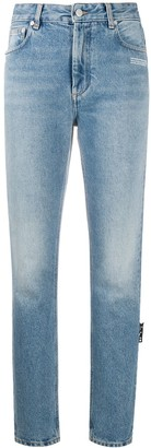 Off-White Faded-Effect Slim-Fit Jeans