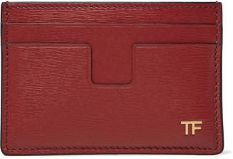 Tom Ford Textured-Leather Cardholder - Men - Red