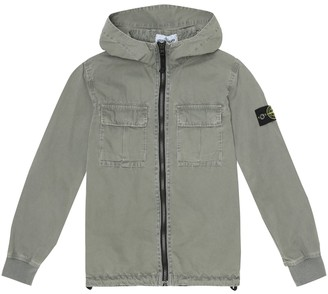 Stone Island Junior Zip-up cotton jacket