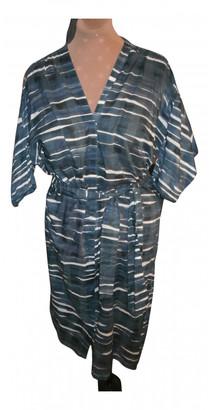 Humanoid Blue Cotton Dresses