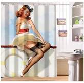 Custom Pin Up Girls Art Paintings Shower Curtain Modern bathroom Waterproof Bath Accessories Bath screens