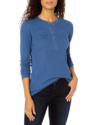Chaps Women's Long Sleeve Alpine Waffle-Knit Henley Shirt