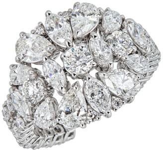Zydo Luminal 18K White Gold & Diamond Flexible Cocktail Ring
