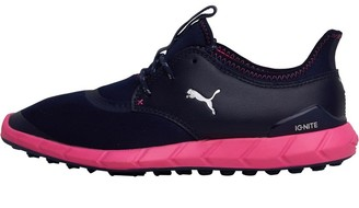 Puma Womens Ignite Spikeless Sport Golf Shoes Peacoat/Silver/Pink