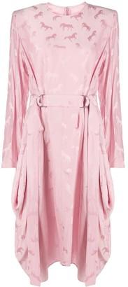 Stella McCartney Horse Jacquard Dress