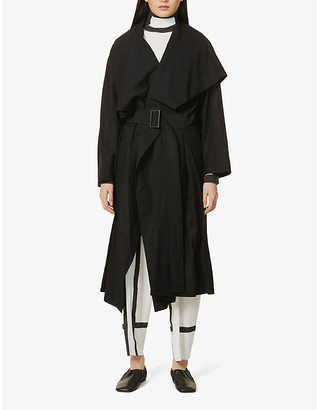 Issey Miyake Belted woven coat