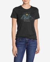 Eddie Bauer Women's Graphic T-Shirt - Dream Stars, Lakes, and Mountains