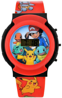 Pokemon PJ Masks Boys Digital Red Strap Watch-Pok3044jc