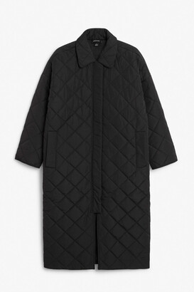Monki Long quilted coat
