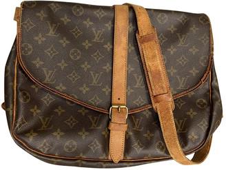 Louis Vuitton Saumur Brown Cloth Travel bags