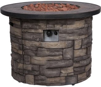 Shine Co Sevilla 35In Round Outdoor Propane Gas Fire Pit Table