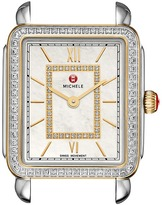 Michele 16mm Deco II Mid-Size Diamond Two-Tone, Diamond Dial Watches