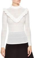 Sandro Perrette Ruffle Sweater