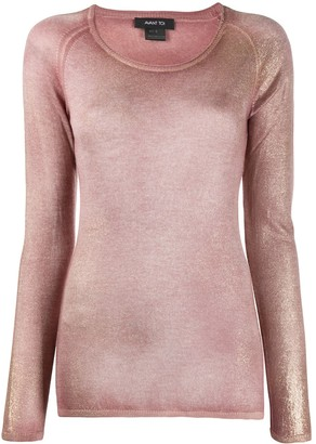 Avant Toi Cashmere Shimmer Knit Top