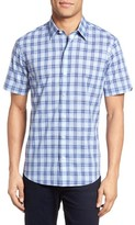 Zachary Prell Men's Hwang Trim Fit Plaid Sport Shirt