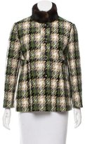 RED Valentino Mink Trimmed Wool Coat