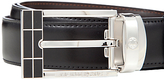 Montblanc Reversible Leather Belt With Rectangular Buckle, One Size, Black/brown