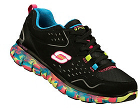 "Skechers Sport ""Perfect Color"" Athletic Sneaker - Black Multi"
