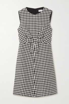 RED Valentino Bow-detailed Gingham Tweed Mini Dress
