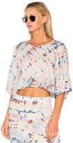 Raquel Allegra Kimono Sleeve Crop Top