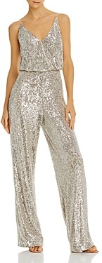 Aidan Mattox Sequined Wide-Leg Jumpsuit