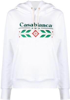 Casablanca Logo-Print Drawstring Hoodie