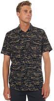 RVCA New Men's Camelia Ss Cord Mens Shirt Short Sleeve Cotton Black