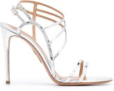 Aquazzura strappy metallic sandals