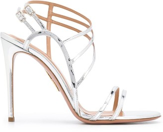 Aquazzura Strappy Metallic Sandals