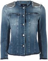 7 For All Mankind embellished shoulders denim jacket