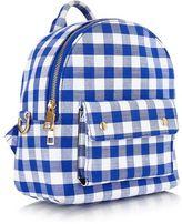 Skinny dip **blue mini gingham backpack