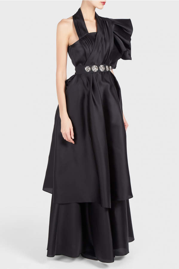 Dice Kayek One Shoulder Gown