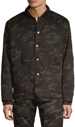 American Stitch Camo-Print Quilted Jacket