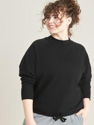 Old Navy Loose Dolman-Sleeve Drawstring-Hem Plus-Size Sweatshirt