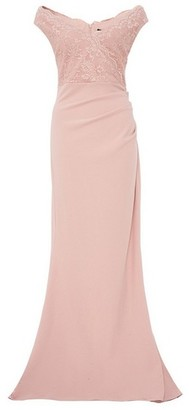 Dorothy Perkins Womens *Quiz Nude Bardot Sequin Maxi Dress, Nude