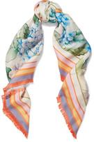 Gucci Printed Silk-twill Scarf - Lilac