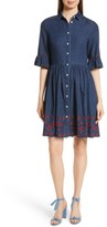 Kate Spade Women's Embroidered Chambray Shirtdress