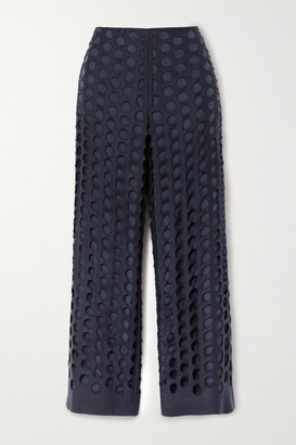 Maison Margiela Distressed Woven Pants - Navy