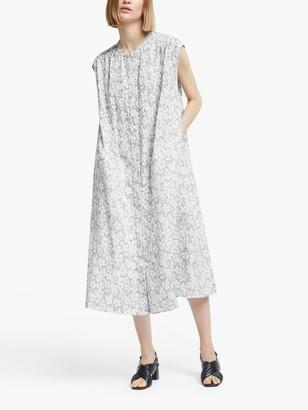 KIN Tomori Shirred Waist Shirt Dress, Black/Multi