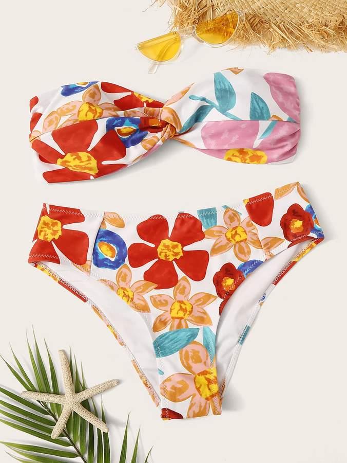 d56ef769a3 High Waisted Bandeau Bikini - ShopStyle
