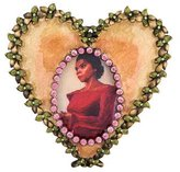 Jay Strongwater Embellished Heart Picture Frame