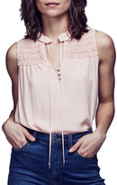Free People Ruffle Front Tie Tank