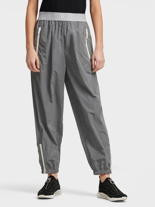 DKNY Women's Pull On Jogger - Grey/Silver - Size XX-Small