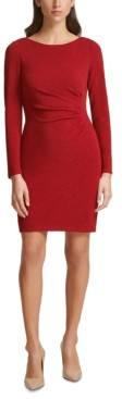 Jessica Howard Plus Size Ruched-Side Sheath Dress