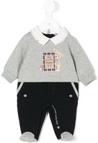 Lapin House - bear print overall - kids - Cotton - 6 mth