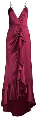 Jay Godfrey Elsie Ruffle Satin Gown