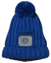 Bogner Blue Lenz Branded Pom Pom Beanie