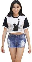 Me Women's Rocky Balboa Crop T-shirt