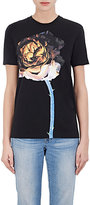 Acne Studios Women's Rose-Print Cotton Jersey T-Shirt-BLACK