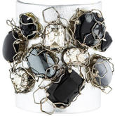 Erickson Beamon Embellished Crystal & Leather Cuff Bracelet